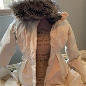 The north face puffer trench